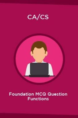 CA/CS Foundation MCQ Question Functions