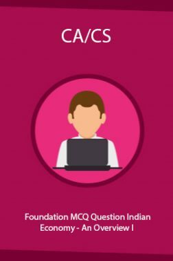 CA/CS Foundation MCQ Question Indian Economy - An Overview I