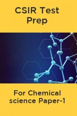 CSIR Test Prep For Chemical science Paper-1