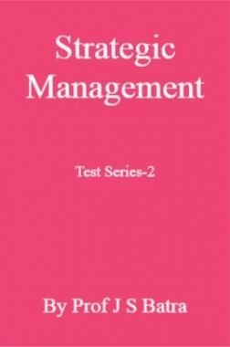 Strategic Management Test Series-2