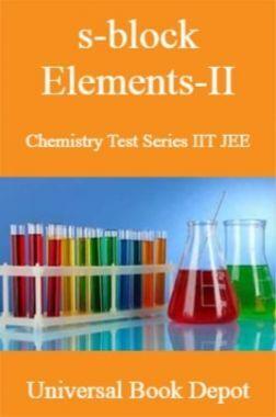 s-block Elements-II Chemistry Test Series IIT JEE