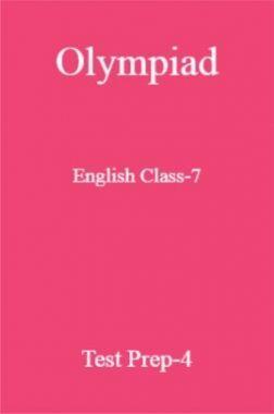 Olympiad English Class-7 Test Prep-4