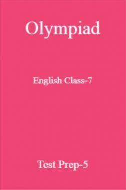Olympiad English Class-7 Test Prep-5