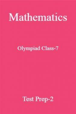 Mathematics Olympiad Class-7 Test Prep-2