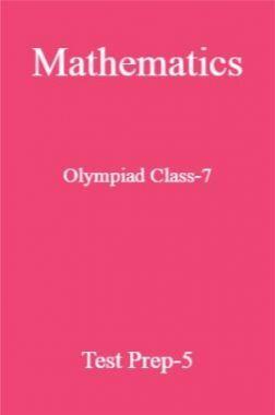 Mathematics Olympiad Class-7 Test Prep-5