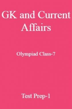 GK and Current Affairs For Olympiad Class-7 Test Prep-1