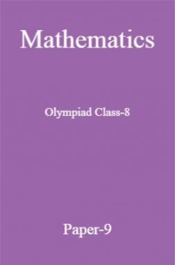 Mathematics Olympiad Class-8 Test Prep-9