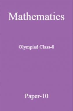 Mathematics Olympiad Class-8 Test Prep-10
