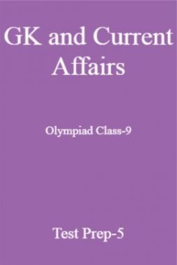 GK and Current Affairs For Olympiad Class-9 Test Prep-5