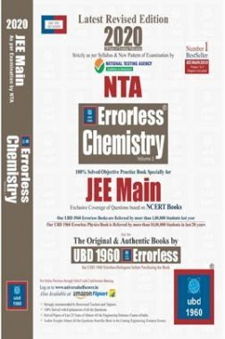 UBD 1960 Errorless Chemistry For JEE Main Latest 2020 Edition As Per Examination by NTA (Volume 1)
