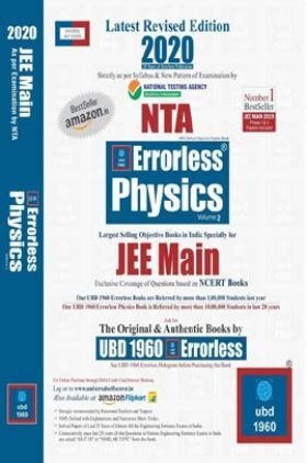 UBD 1960 Errorless Physics For JEE Main Latest 2020 Edition As Per Examination by NTA (Volume 2)