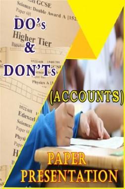 Examination Tips And Strategies - Accounting Paper Presentation