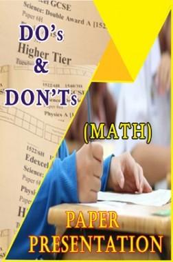 Examination Tips And Strategies - Mathematics Paper Presenation Tips