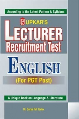 Lecturer Recruitment Test English For PGT Post