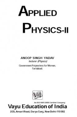 Applied Physics-II By Anoop Singh Yadav