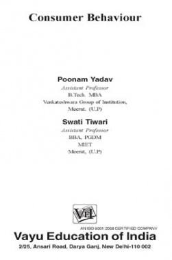 Consumer Behaviour By Poonam Yadav