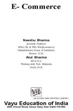 E-Commerce By Neeshu Sharma and Atul Sharma