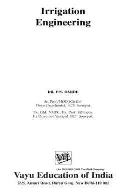 Irrigation Engineering By Dr. P.N. Darde