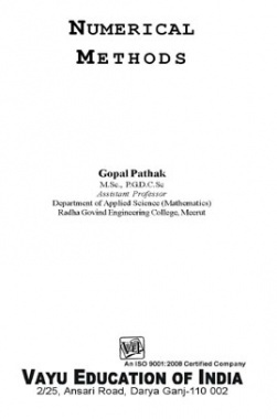 Numerical Methods By Gopal Pathak