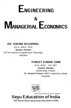 Engineering and Managerial Economics
