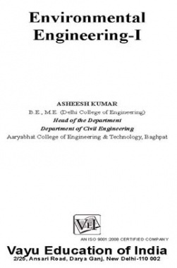 Environmental Engineering-I By Ashish Kumar