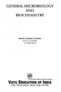 General Microbiology and Biochemistry By Manoj Kumar Sharma