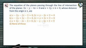3D Geometry - Class Exercise-II (Session 7 & 8)