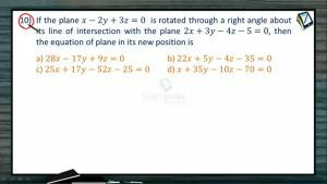 3D Geometry - Class Exercise-III (Session 7 & 8)