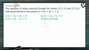 3D Geometry - Examples-II (Session 7 & 8)
