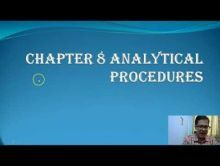 Audit And Assurance - Analytical Procedures Chapter-VIII Part I Video by Revantasuntech
