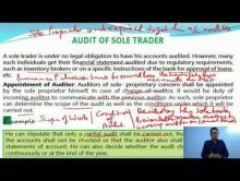 Audit And Assurance - Audit Of Different Types Of Entities Chapter-XIII Part II Video by Revantasuntech