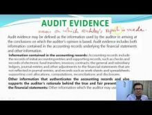 Audit And Assurance - Audit Documentation And Audit Evidence Chapter-III Part II Video by Revantasuntech