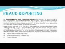 Audit And Assurance - Fraud The Responsibilities Of The Auditor In This Regards Chapter-V Part III Video by Revantasuntech