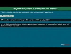 Class 12 Chemistry - Physical Properties Of Aldehydes And Ketones Video by MBD Publishers