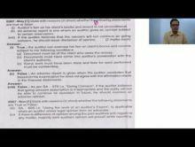 Audit And Assurance - Question Bank Set I Chapter-XIV Part II Video by Revantasuntech