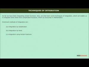 Class 12 Maths - Techniques Of Integration Video by MBD Publishers