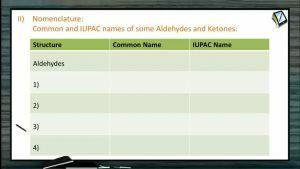 Aldehydes And Ketones - Nomenclature Of Carbonyl Compounds (Session 1)