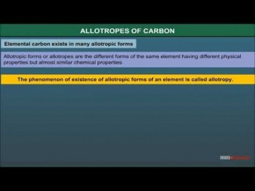 Class 11 Chemistry - Allotropes Of Carbon Video by MBD Publishers