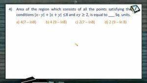 Area Under Curves - Problems 2 (Session 3 & 4)