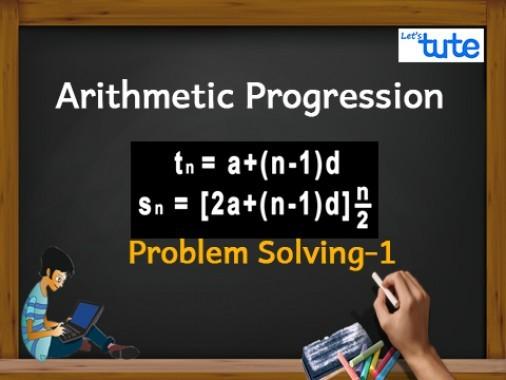 Class 10 Mathematics - Arithmetic progression Problem Solving Tn Video by Lets Tute