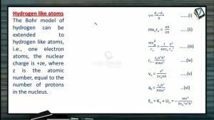 Atomic Physics - Bohrs Model For Hydrogen (Session 6, 7 & 8)
