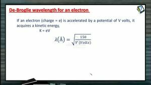 Atomic Physics - De-Broglie Wavelength For Electron And Gas Molecule (Session 4 & 5)