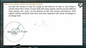 Atomic Physics - Effect Of Nucleus Motion On Energy Of Atom (Session 6, 7 & 8)