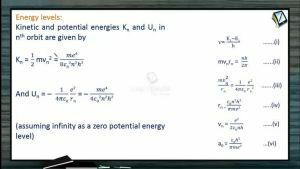 Atomic Physics - Energy Levels In Bohrs Model (Session 6, 7 & 8)