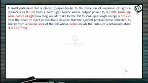 Atomic Physics - Example-3 (Session 1, 2 & 3)