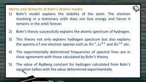 Atomic Structure - Merits And Demerits Of Bohrs Atomic Model (Session 5 & 6)