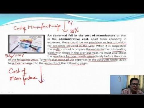 Audit And Assurance - Analytical Procedures Chapter-VIII Part II Video by Revantasuntech