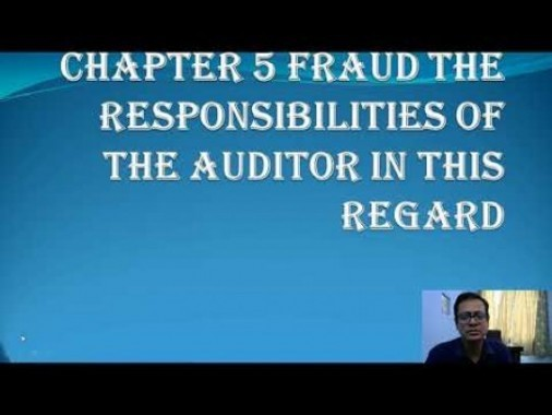 Audit And Assurance - Fraud The Responsibilities Of The Auditor In This Regards Chapter-V Part I Video by Revantasuntech