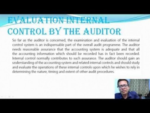 Audit And Assurance - Risk Assessment And Internal Control Chapter-IV Part IV Video by Revantasuntech