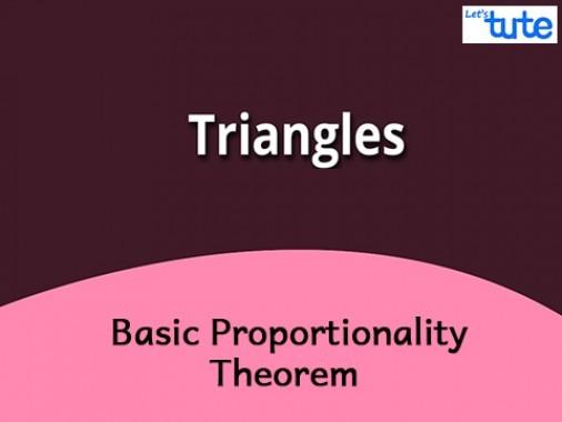 Class 10 Mathematics - Basic Proportionality Theorem Video by Lets Tute
